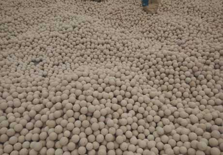 Cheap High Alumina Grinding Balls For Sale in Rongsheng Kiln Refractory Manufacture