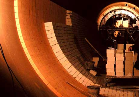 Laying Firebricks In Rotary Kiln